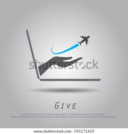 hand hold  airplane  from