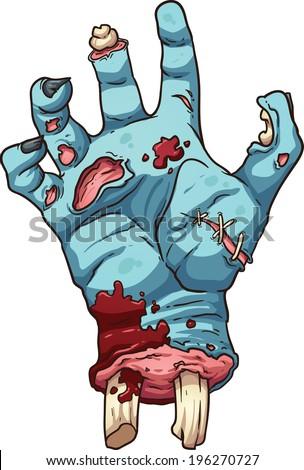 zombie hand vector clip art