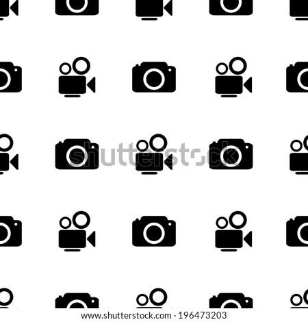 camera icon seamless vector