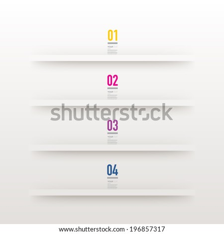 colorful numbers and text with