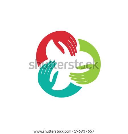 three hands union image