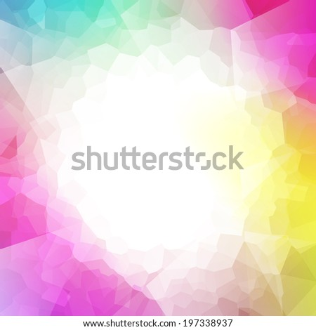 colorful abstract crystal