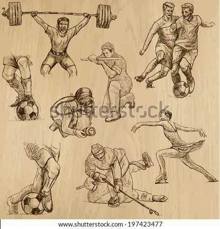 sports around the world  vector