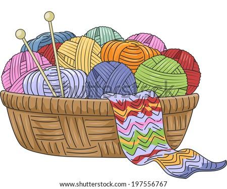 Knitting Yarn Needles clip art Free Vector / 4Vector