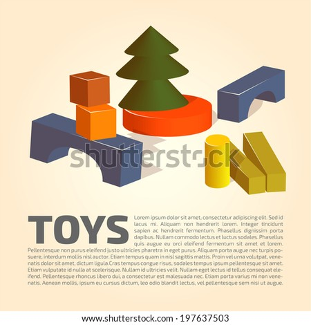 wooden bricks   toys background