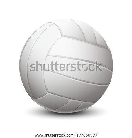 white volleyball ball isolated
