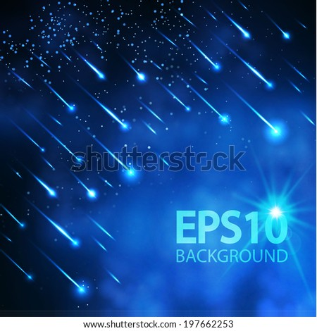 night meteor sky vector