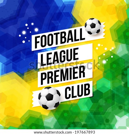 soccer football poster mosaic