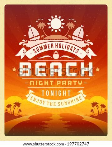 retro summer party design