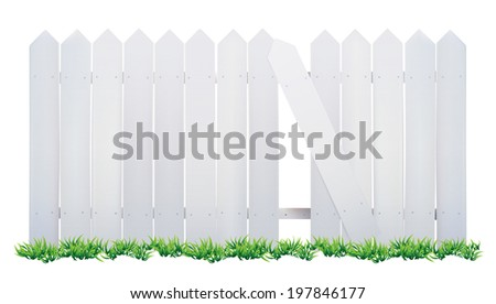 wooden fence and grass with