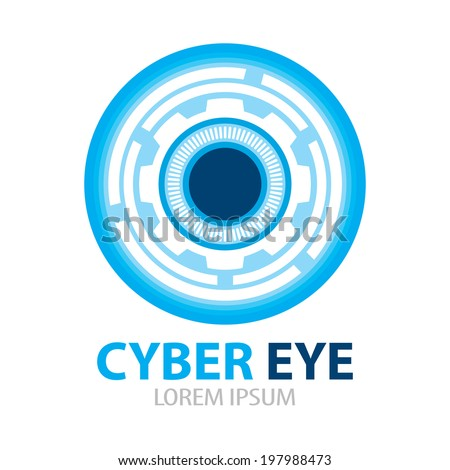 cyber eye symbol icon vector
