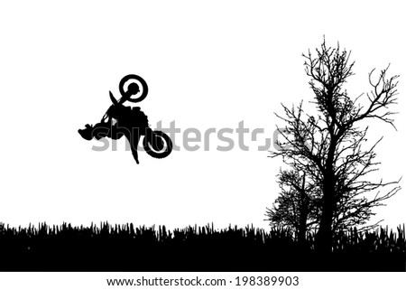 vector silhouette of a man on a