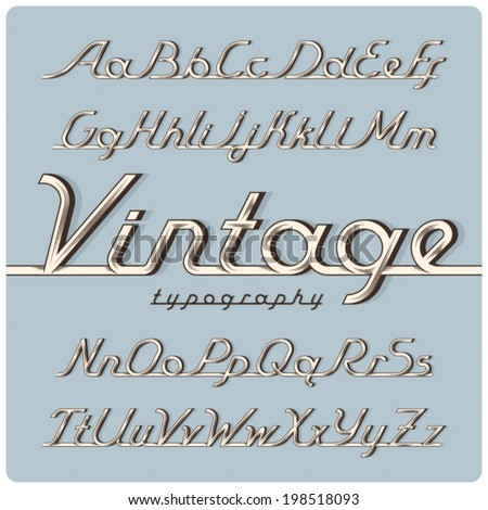 graphical ink vintage font