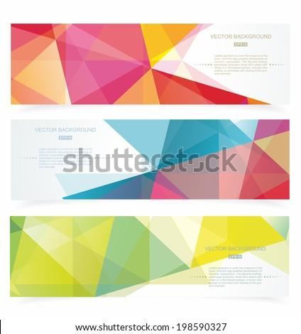 banners with pattern of