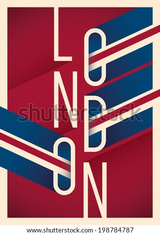 illustrated london poster with