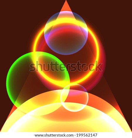 abstract glowing circles in