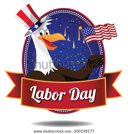 labor day icon eps 10 vector