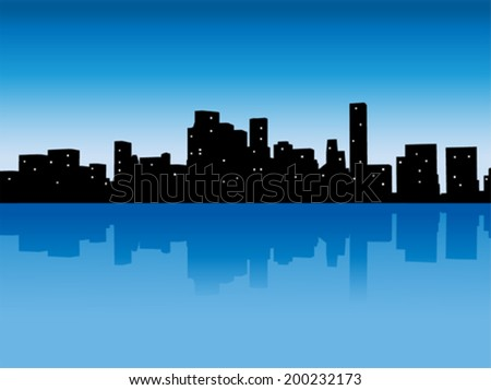 vector abstract modern city