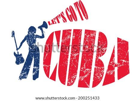 cuba havana dance girls vector