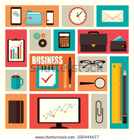 office items vector pack