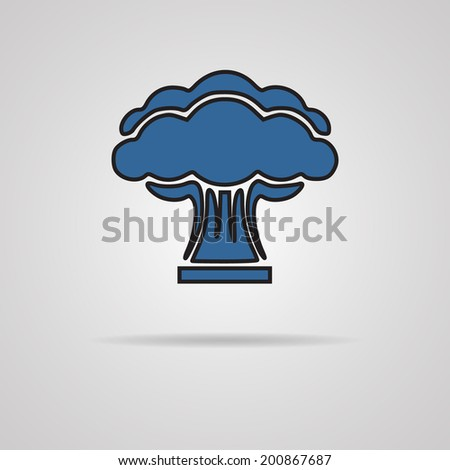 nuclear explosion on gray