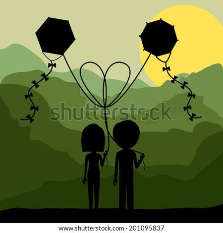 kite design over landscape