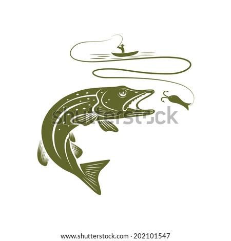 illustration of fisherman in a