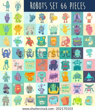 robots vector set  robot toy