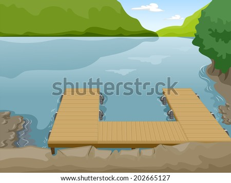 illustration of a boat dock