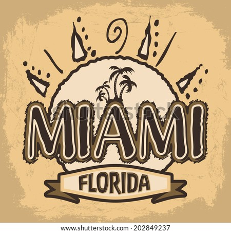 miami   florida   vector badge