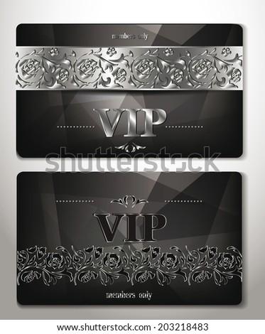 elegant vip cards with platinum