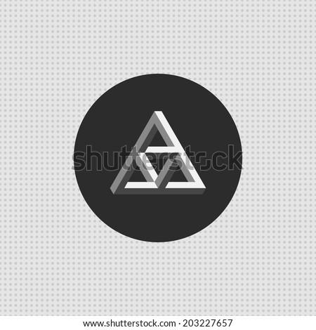 triangle impossible icon