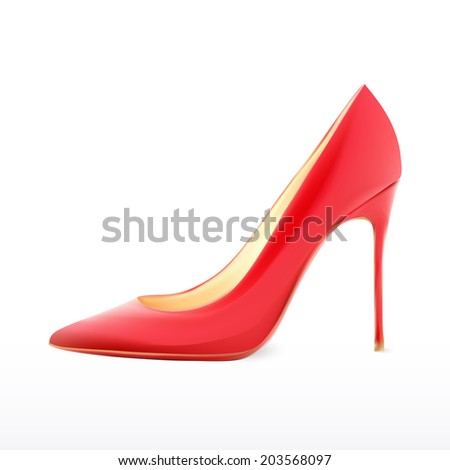 woman shoes realistic design in