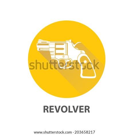 vector vintage pistol gun icon