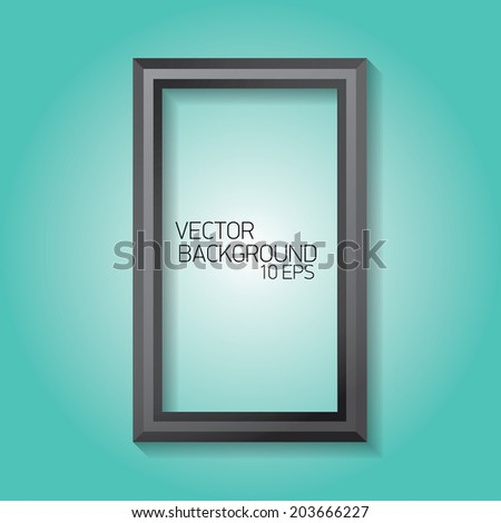 vector modern black frame on