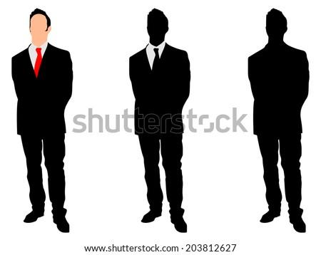 businessman standing straight