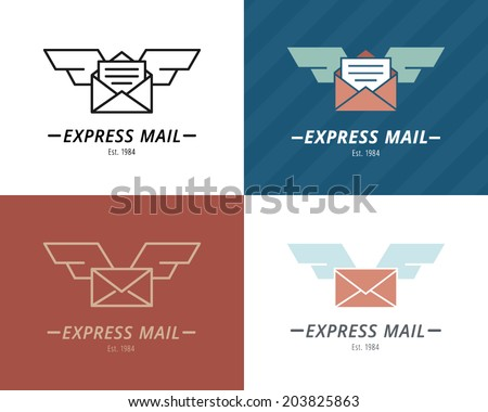 mail with wings  conceptual