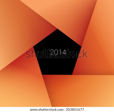 colorful orange  red vector