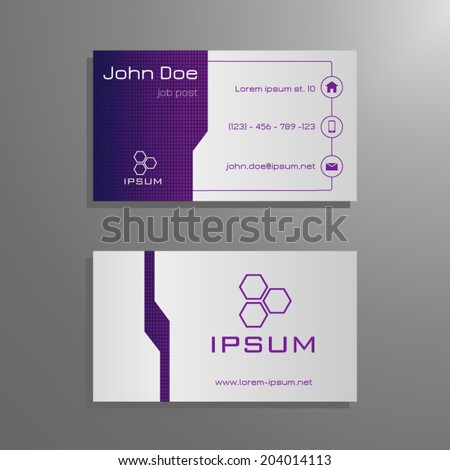 Purple name card template free vector download 23064 free vector sponsored colourmoves Image collections