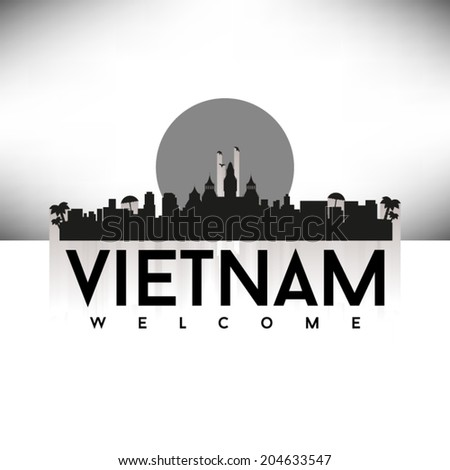 vietnam  skyline design  vector