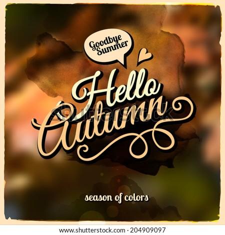 vector autumn blurred
