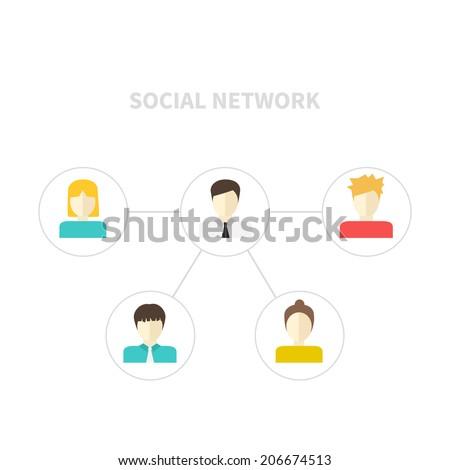 modern social networking flat