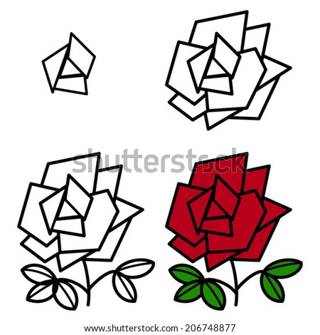 how to draw rose