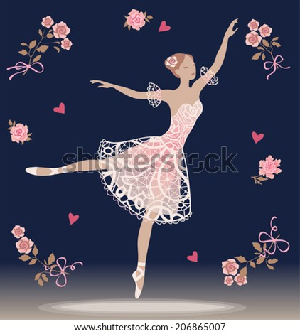 vintage background with dancing