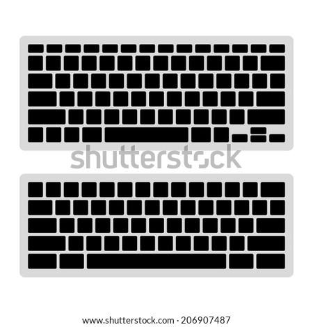computer keyboard blank