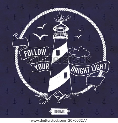 lighthouse nautical vector