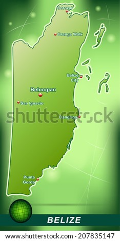 map of belize with abstract