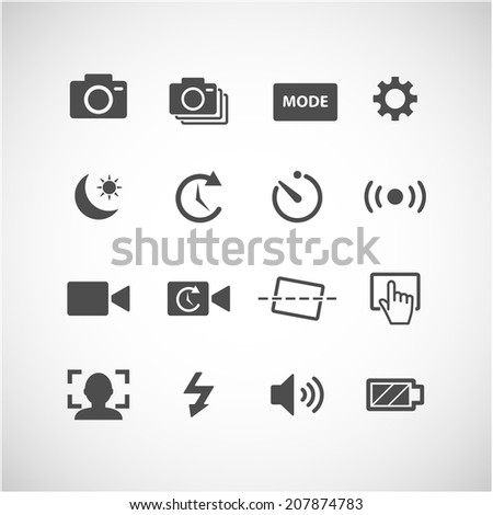 camera app icon set  each icon