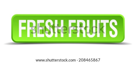 fresh fruits green 3d realistic