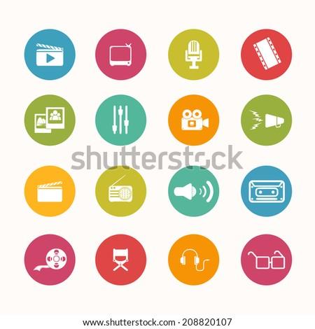 movie icons circle series
